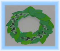 Paper Plate Olive Wreath