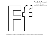 letter f template printable  Educational Printables: Alphabet Templates