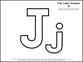 Educational printables alphabet templates for Letter j template preschool