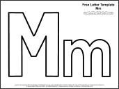 Link To Letter M Template