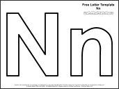 letter n template printable  Educational Printables: Alphabet Templates