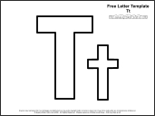 link to letter t template
