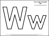 link to letter w template
