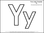 link to letter y template